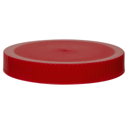89/400 Red Polypropylene Unlined Ribbed Cap