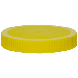 89/400 Yellow Polypropylene Unlined Ribbed Cap
