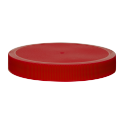100/400 Red Polypropylene Unlined Ribbed Cap