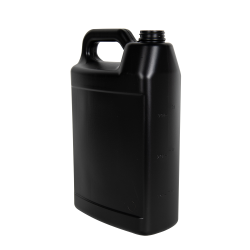 1 Gallon Black HDPE F-Style Jug with 38/400 Neck (Cap Sold Separately)