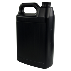 1 Gallon Black F-Style Jug with 38/400 Plain Cap with F217 Liner