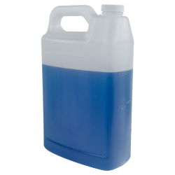 1 Gallon Natural F-Style Jug with 38/400 Plain Cap with F217 Liner