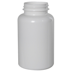 250cc White PET Packer Bottle with 45/400 Neck (Cap Sold Separately)