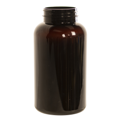 300cc Dark Amber PET Packer Bottle with 45/400 Neck (Cap Sold Separately)
