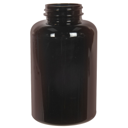 500cc Dark Amber PET Packer Bottle with 45/400 Neck (Cap Sold Separately)