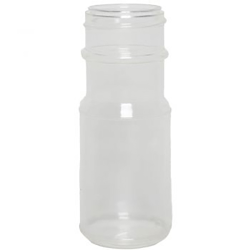 4 oz. Clear K-Resin Fluted Spice Jar with 43/485 Neck (Cap Sold Separately)
