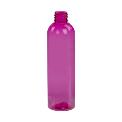 4 oz. Pink PET Cosmo Round Bottle with 20/410 Neck (Cap Sold Separately)