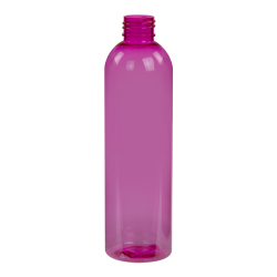 8 oz. Pink PET Cosmo Round Bottle with 24/410 Neck (Cap Sold Separately)