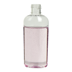 1 oz. Clear Cosmo High Clarity Oval Bottle with 15/415 Neck (Cap Sold Separately)