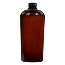 8.45 oz. Light Amber Vale High Clarity Oval Bottle with 24/410 Neck (Cap Sold Separately)