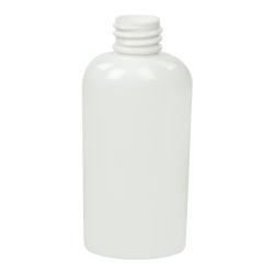 2 oz. White PET Cosmo Oval Bottle with 20/410 Neck (Cap Sold Separately)