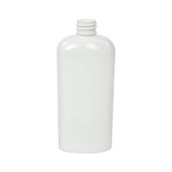 4 oz. White PET Cosmo Oval Bottle with 20/410 Neck (Cap Sold Separately)