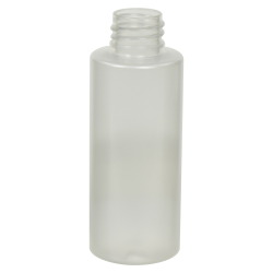 2 oz. Frosted Clear PET Cylinder Bottle with 20/410 Neck (Cap Sold Separately)