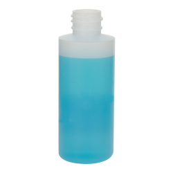 2 oz. Natural HDPE Cylindrical Sample Bottle with 20/410 Neck (Cap Sold Separately)