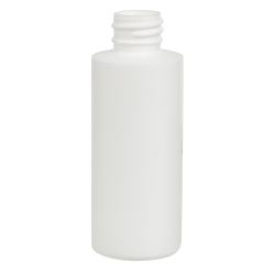 2 oz. White HDPE Cylindrical Sample Bottle with 20/410 Neck (Cap Sold Separately)