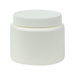 4 oz. White Straight Sided Jar with 63/400 Cap