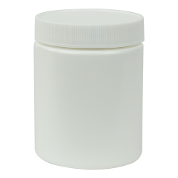White & Natural HDPE Wide Mouth Jars with Caps