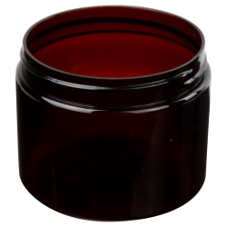 6 oz. Amber PET Straight Sided Jar with 70/400 Neck (Cap Sold Separately)