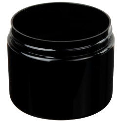 6 oz. Black PET Straight Sided Jar with 70/400 Neck (Cap Sold Separately)
