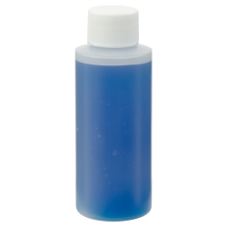 2 oz. Natural HDPE Cylindrical Sample Bottle with 20/410 Plain Cap
