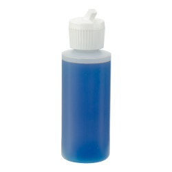 2 oz. Natural HDPE Cylindrical Sample Bottle with 20/410 Flip-Top Cap