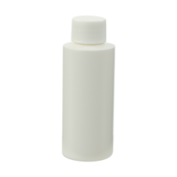 2 oz. White Cylindrical Sample Bottle with 20/410 Cap