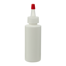 2 oz. White HDPE Cylindrical Sample Bottle with 20/400 Natural Yorker Cap