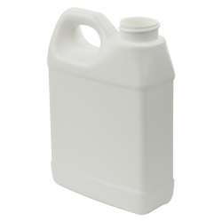 16 oz. White Fluorinated HDPE F-Style Jug with 33/400 Neck (Cap Sold Separately)