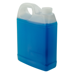 32 oz. Natural Fluorinated F-Style Jug with 33/400 Neck