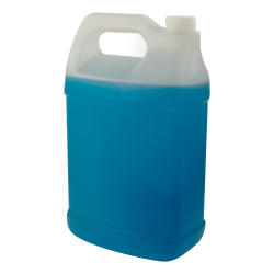 128 oz. Natural Fluorinated HDPE F-Style Jug with 38/400 Neck (Cap Sold Separately)