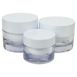 SAN Jars with Caps & Tabbed Discs