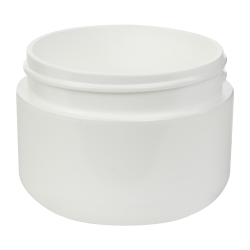 1 oz. White Polypropylene Dome Double Wall Jar with 53/400 Neck (Cap Sold Separately)
