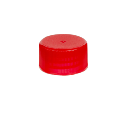 18/410 Red Polypropylene Unlined Ribbed Cap