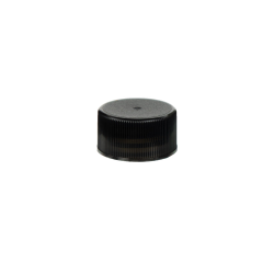 24/414 Black Polypropylene Unlined Ribbed Cap