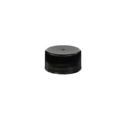 24/414 Black Polypropylene Unlined Ribbed Cap