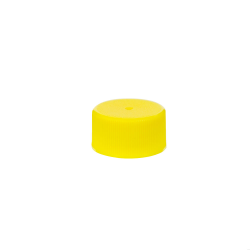 24/414 Yellow Polypropylene Unlined Ribbed Cap