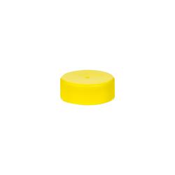 28/400 Yellow Polypropylene Unlined Ribbed Cap