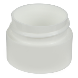 White Polypropylene Straight Sided Double Wall Jars