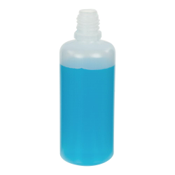 60mL Natural LDPE Boston Round CRC E-Liquid Bottle with 13/415 Neck (Cap Sold Separately)