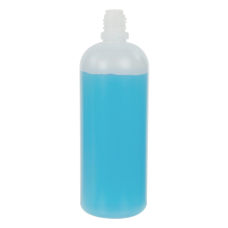 120mL Natural LDPE Boston Round CRC E-Liquid Bottle (Cap Sold Separately)