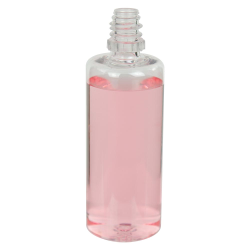 60mL Clear PET Boston Round CRC E-Liquid Bottle with 13/415 Neck (Cap Sold Separately)
