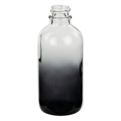 120mL Faded Black E-Liquid Boston Round Glass Bottle with 22/400 Neck (Cap Sold Separately)
