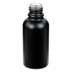 30mL Matte Black E-Liquid Boston Round Glass Bottle with 18/415 Neck (Cap Sold Separately)