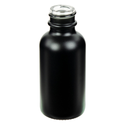 30mL Matte Black E-Liquid Boston Round Glass Bottle with 20/400 Neck (Cap Sold Separately)