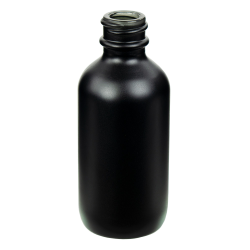 60mL Matte Black E-Liquid Boston Round Glass Bottle with 20/400 Neck (Cap Sold Separately)