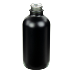 120mL Matte Black E-Liquid Boston Round Glass Bottle with 22/400 Neck