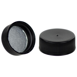 28/400 Black Cap with Foil Induction Seal