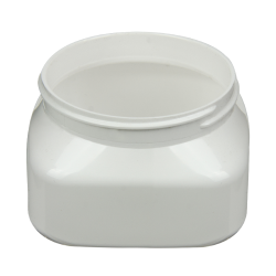 6 oz. White PET Firenze Square Jar with 70/400 Neck (Cap Sold Separately)