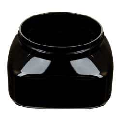 8 oz. Black PET Firenze Square Jar with 70/400 Neck (Cap Sold Separately)