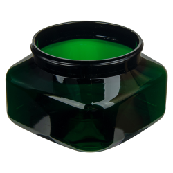 8 oz. Dark Green PET Firenze Square Jar with 70/400 Neck (Cap Sold Separately)